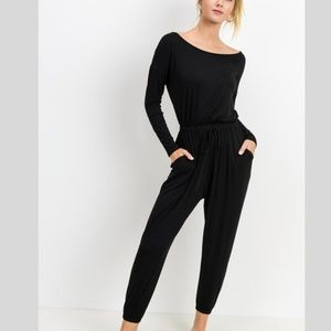 Long Sleeve Drawstring Jumpsuit~New Arrival
